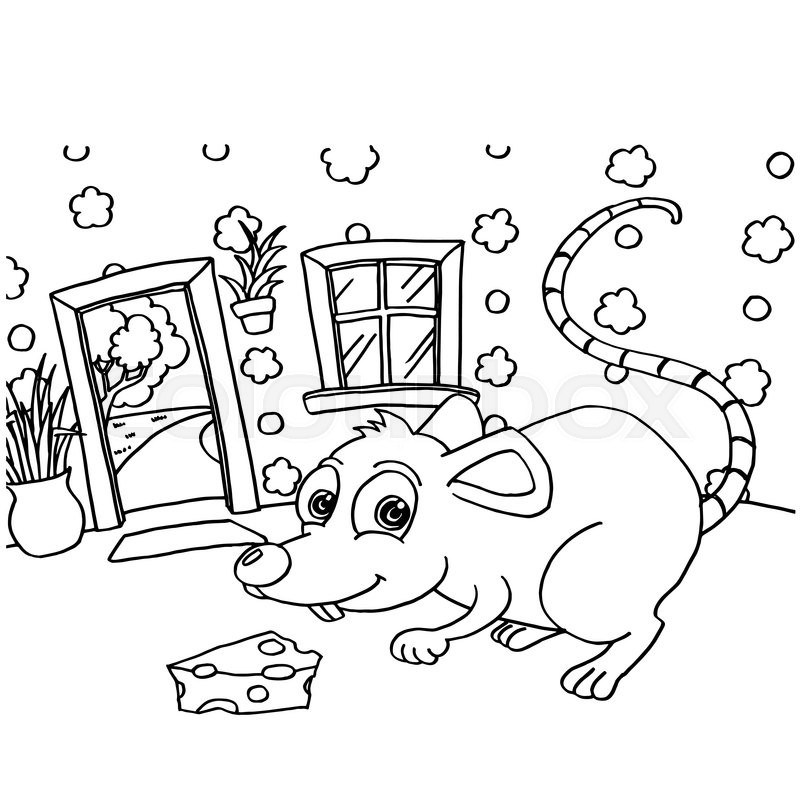 Image Of Rat Colouring Pages Vector Stock Vector Colourbox
