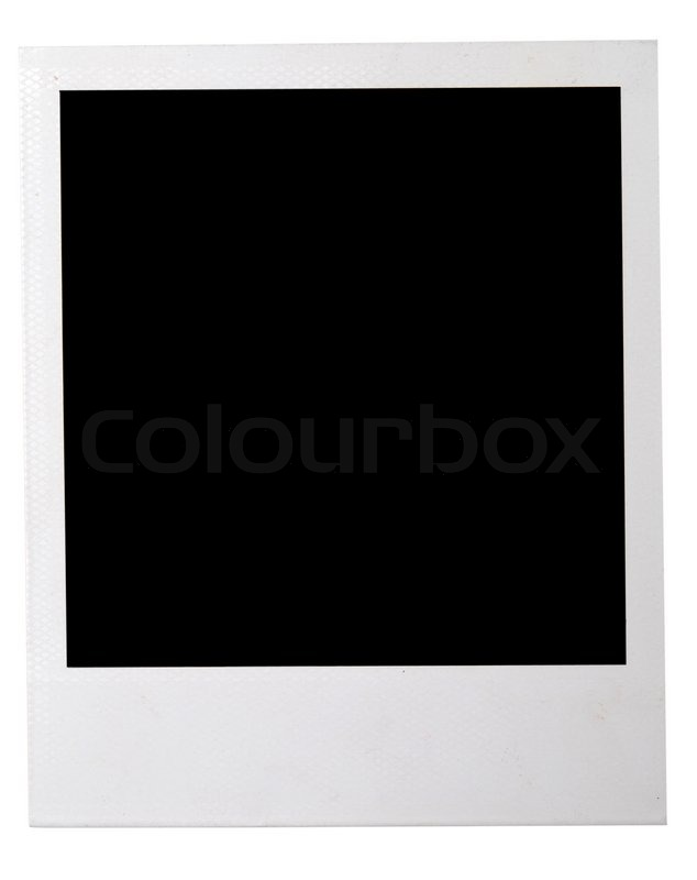polaroid isolated on a white background stock photo colourbox. Black Bedroom Furniture Sets. Home Design Ideas