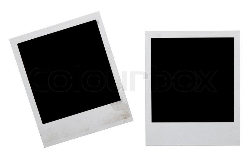 Polaroid frames isolated on white | Stock Photo | Colourbox