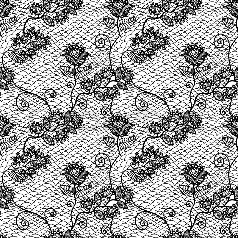 vintage seamless floral lace pattern stock vector
