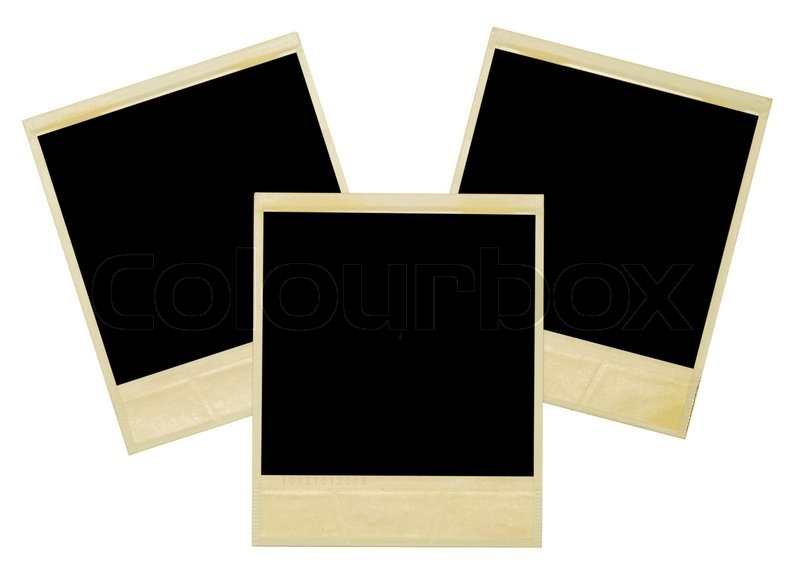 polaroids isoliert auf wei em rahmen stockfoto colourbox. Black Bedroom Furniture Sets. Home Design Ideas