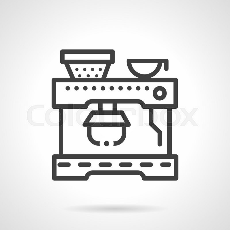Abstract Simple Line Style Vector Icon For Coffee Machine