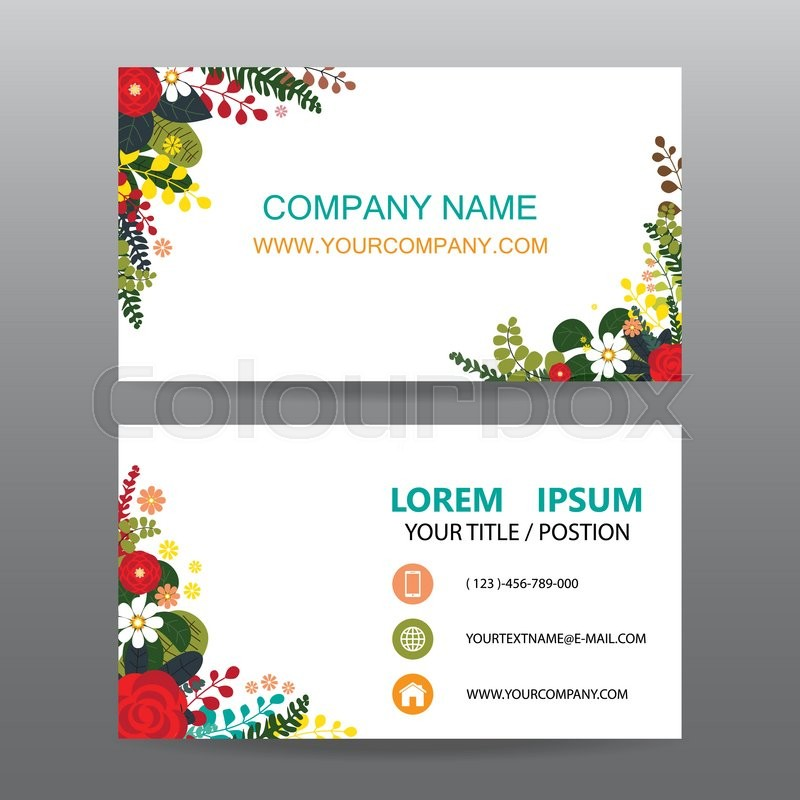 Business card vector backgrounddecorated with flowers frame stock business card vector backgrounddecorated with flowers frame stock vector colourbox colourmoves