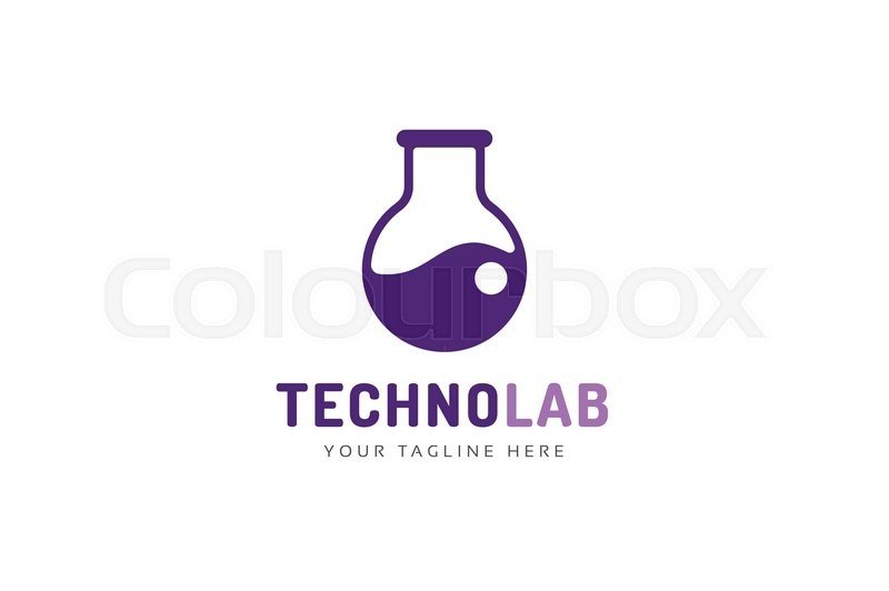 laboratory equipment vector logo lab icon logo isolated on white