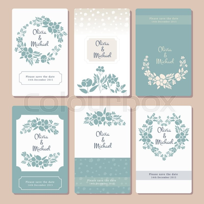 Pastel Wedding Graphic Set With ...
