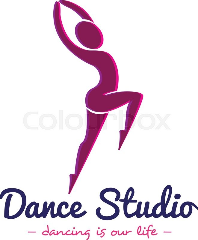 vector minimalistic dance studio logo dancer logotype stock rh colourbox com dance studio login dance studio logo vector