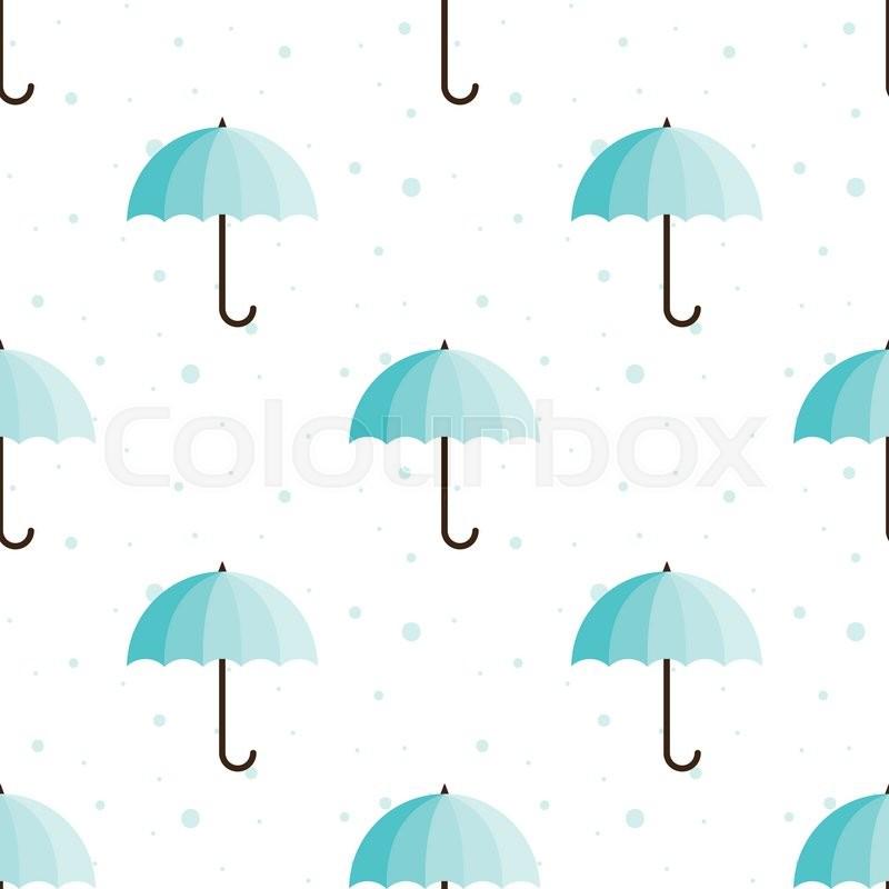 vector vintage umbrellas seamless pattern cute blue umbrella