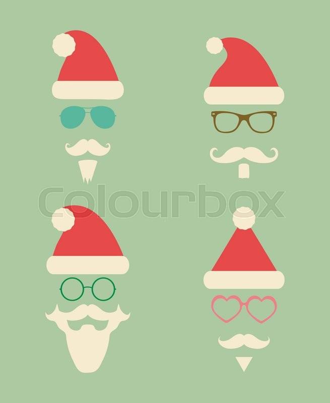 032a98efe04 Santa Claus Fashion Colorful ...