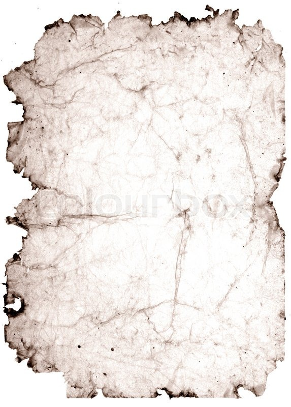 Old Stained Paper With Torn Edges