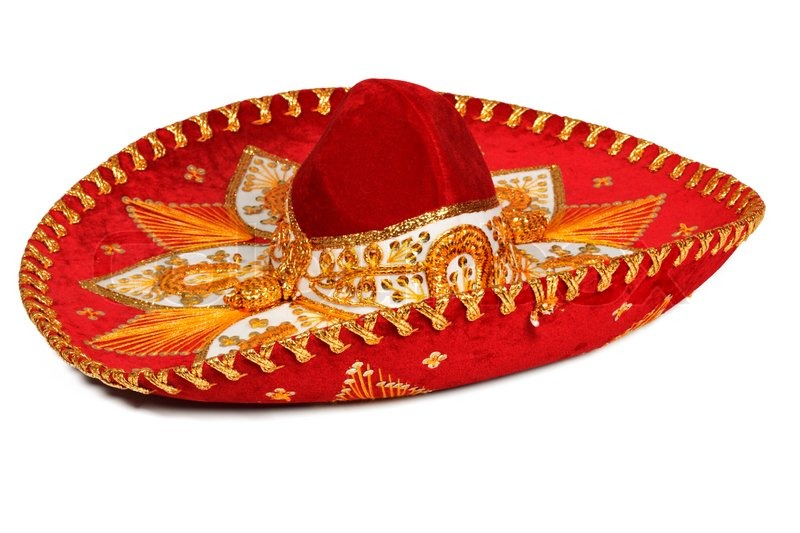 red sombrero isolated on whit stock photo colourbox