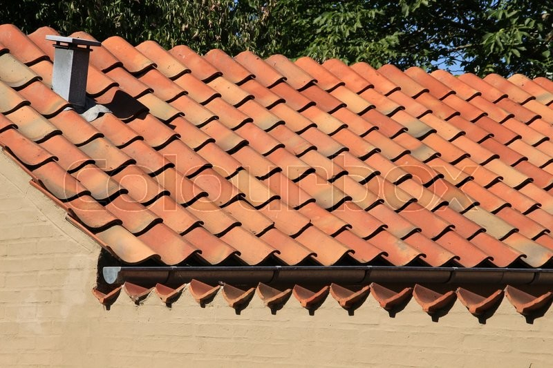 A Roof Of The Small House With Orange Stock Image Colourbox
