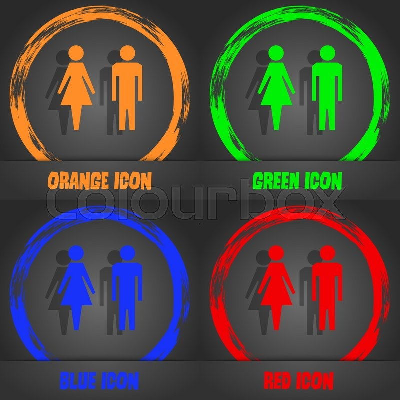 Wc Sign Icon Toilet Symbol Male And Female Toilet Fashionable
