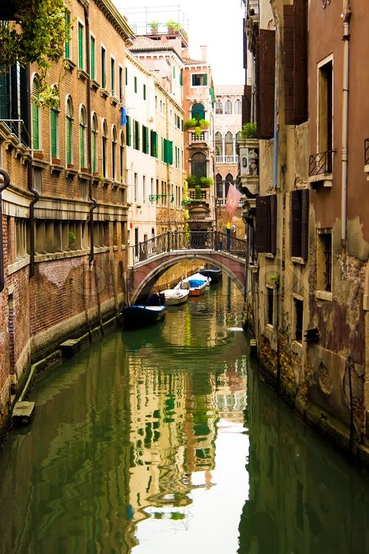 Typical Canal In Venice Italy Stock Photo Colourbox