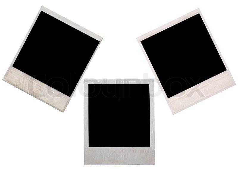 Polaroid frame isolated on white   Stock Photo   Colourbox