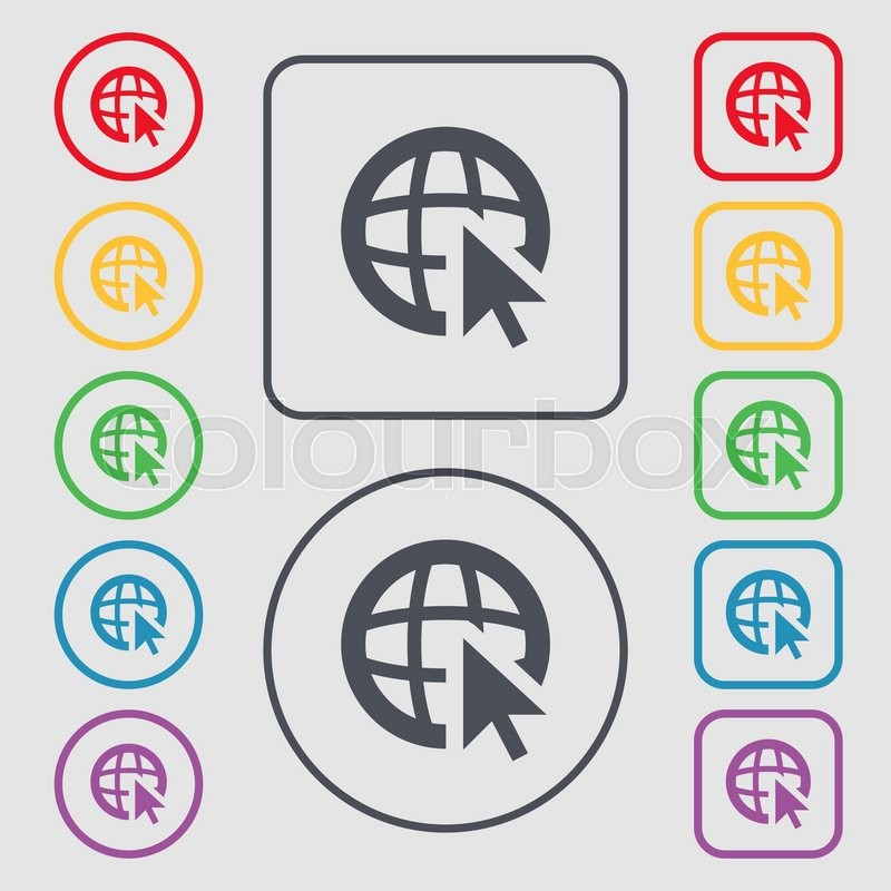 Internet Sign Icon World Wide Web Symbol Cursor Pointer Symbols