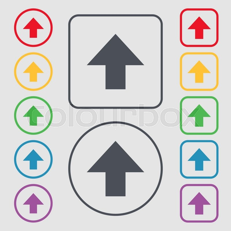 This Side Up Sign Icon Fragile Package Symbol Symbols On The Round