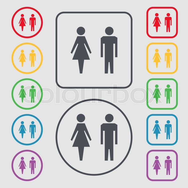 Wc Sign Icon Toilet Symbol Male And Female Toilet Symbols On The