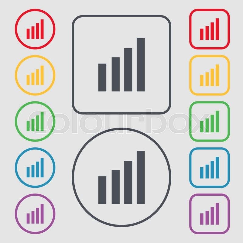 Mobile Signal Sign Wi Fi Symbol Stock Vector Colourbox