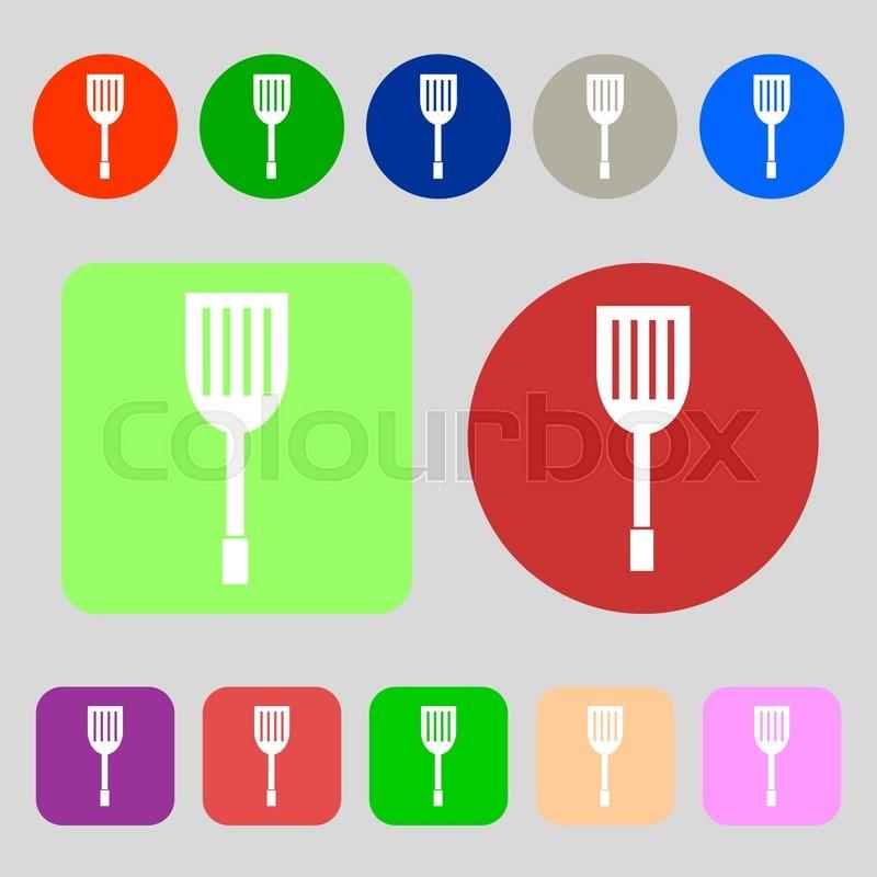 Kitchen Appliances Icon Sign 12 Stock Vector Colourbox