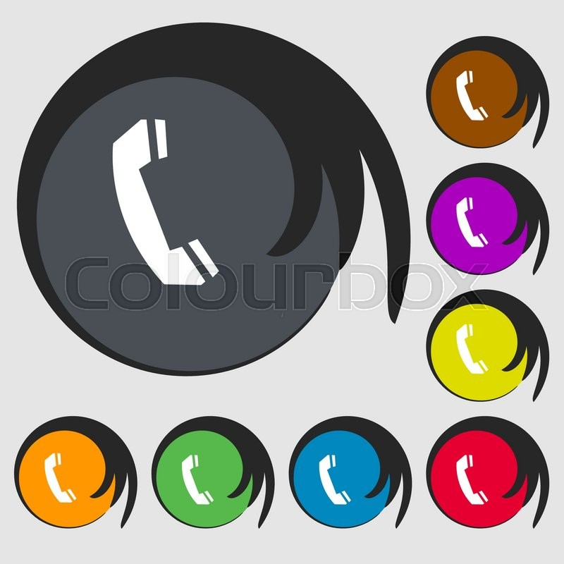 Phone Sign Icon Support Symbol Call Center Symbols On Eight