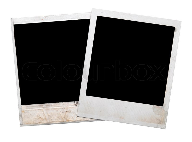polaroid rahmen isoliert auf wei stock foto colourbox. Black Bedroom Furniture Sets. Home Design Ideas