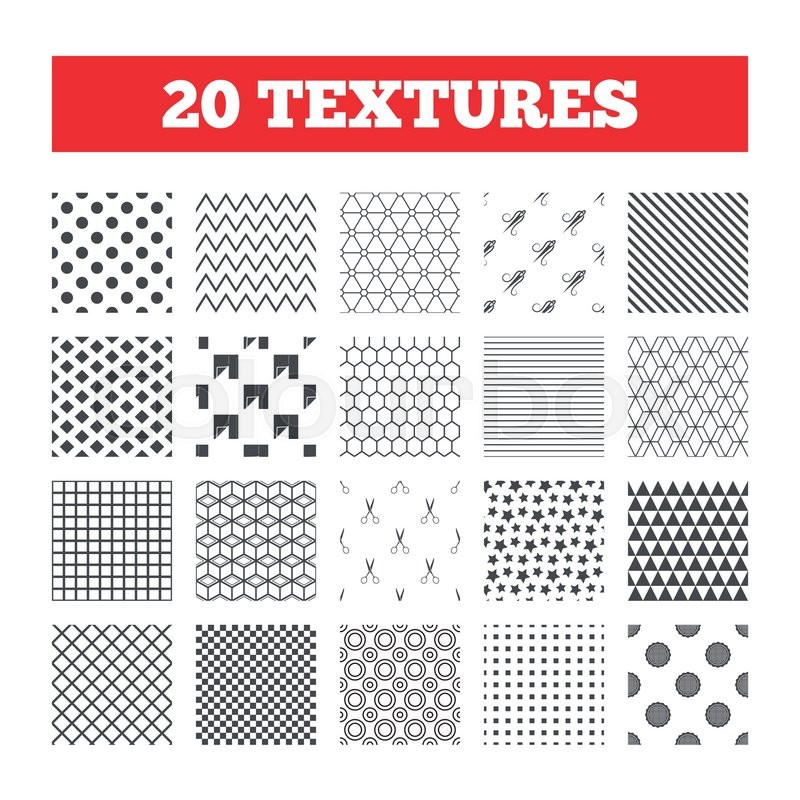 Seamless Patterns Endless Textures Textile Cloth Piece Icon