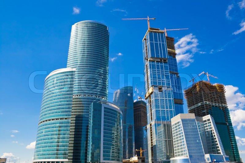 Moderne geb ude im international business centre moskau for Moderne architektur gebaude