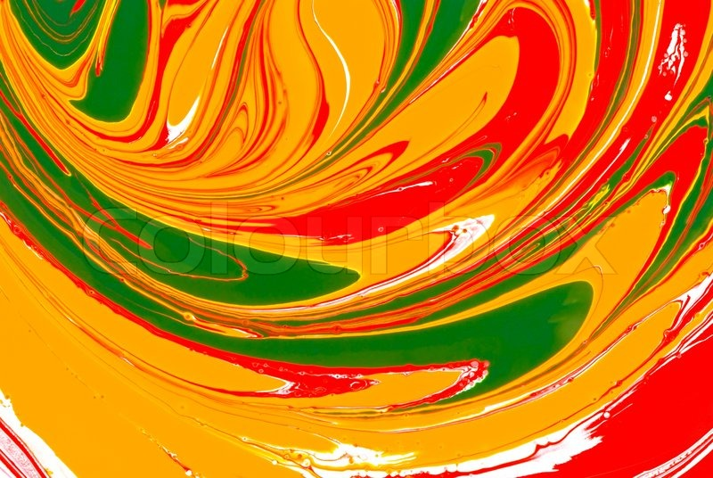 red yellow and green paints abstract background stock