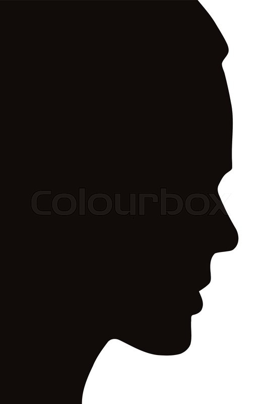 silhouette of a beautiful young womans face side view stock vector colourbox