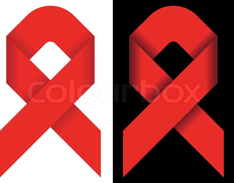 Red Ribbon As Symbol Of Solidarity Of People Living With Hivaids
