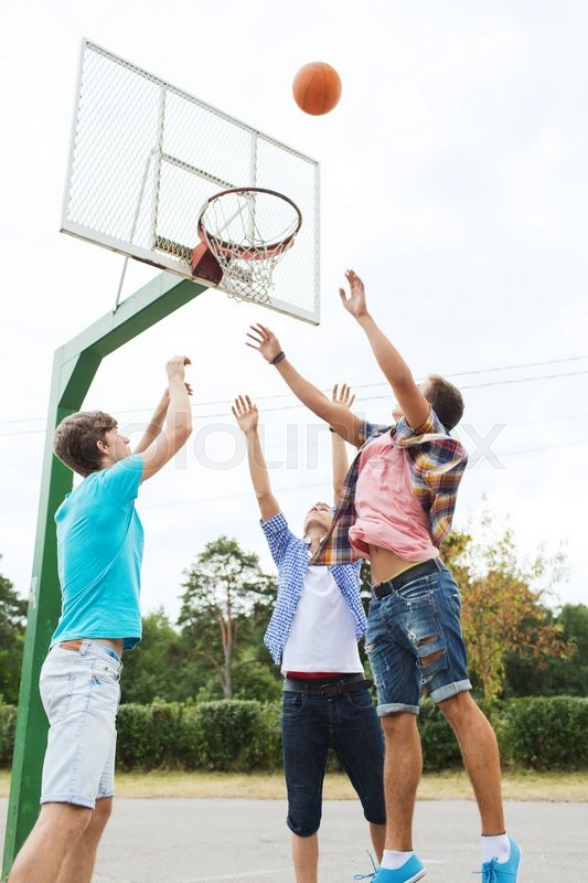 Summer Vacation Sport Games And Friendship Concept