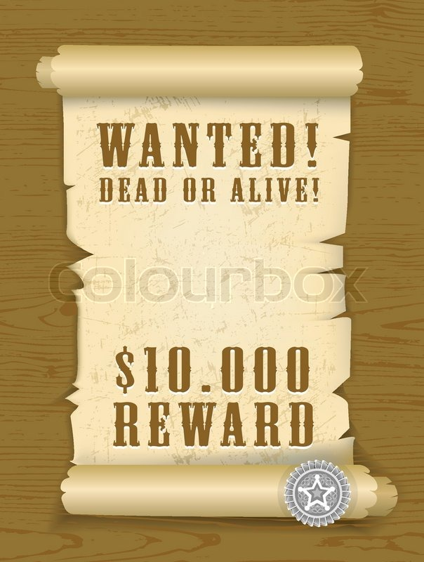 vector poster wanted dead or alive auf holz textur hintergrund vektorgrafik colourbox. Black Bedroom Furniture Sets. Home Design Ideas