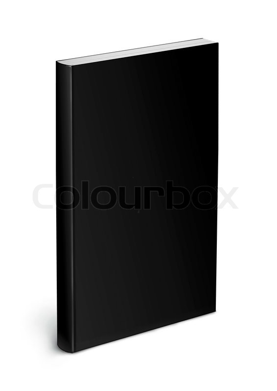 Cookbook Black Cover : Black cover book template isolated on white background