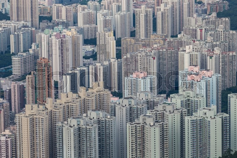 Building Apartment Pattern Hong Kong Living Stock Photo Colourbox
