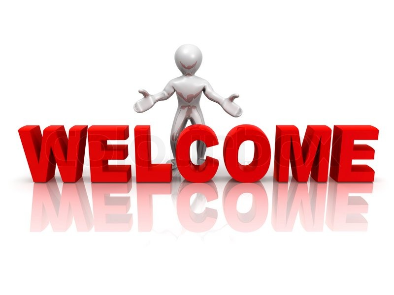 Men With Text Welcome 3d Stock Photo Colourbox