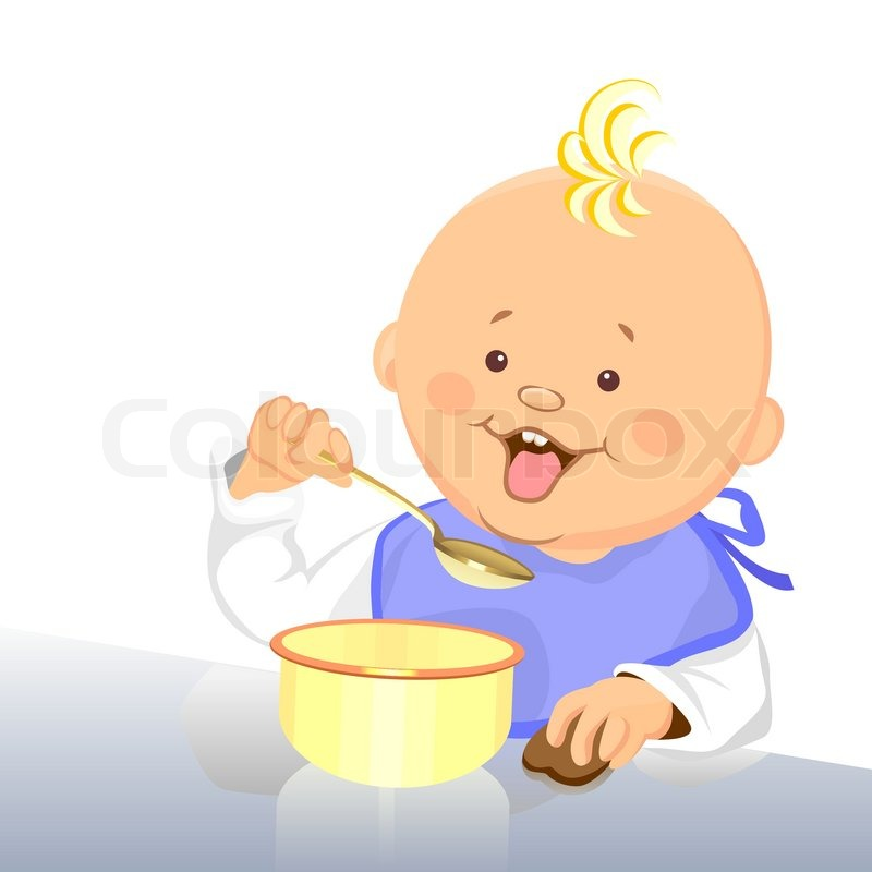 baby eating clipart - photo #11