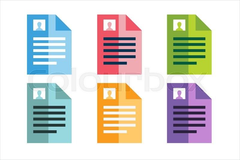 New Job Resume Vector Icons Work Stock Vector Colourbox