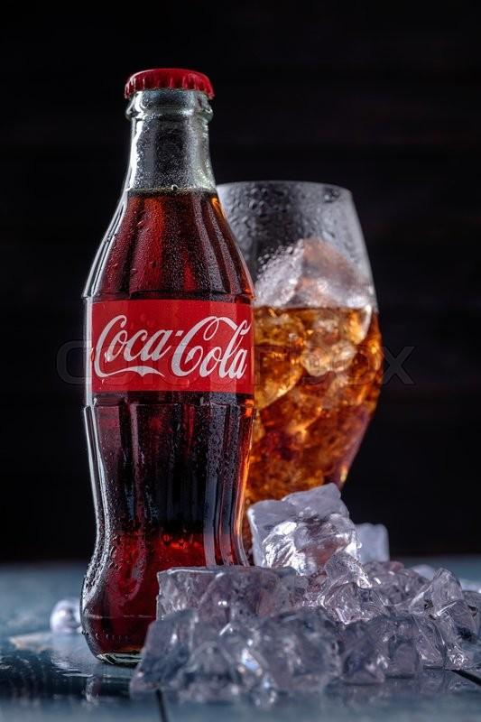 Minsk Belarus August 16 2015 Classic Bottle Of Coca