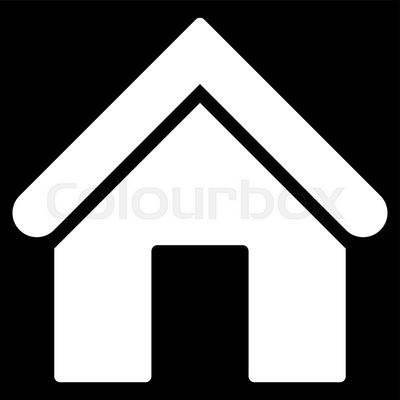 Home Icon From Primitive Set This Isolated Flat Symbol Is Drawn