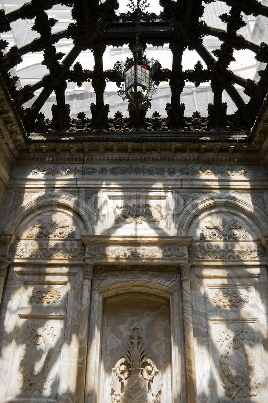 Celling Of Turkish Bath Hammam In Dolmabahce Palace