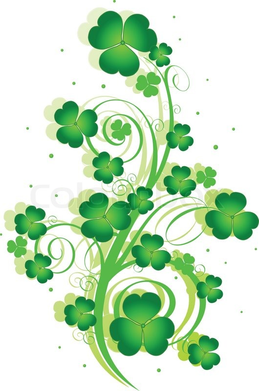 Decorative swirling st patrick s day design with clover for Irish mail cart plans