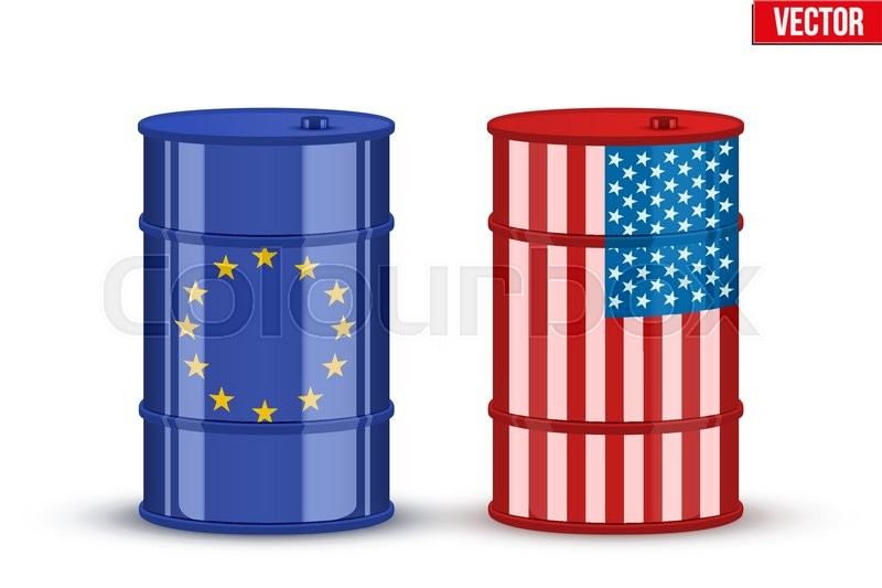 Symbols Of Benchmark Crude Trading Oil Brent And Wti Industry