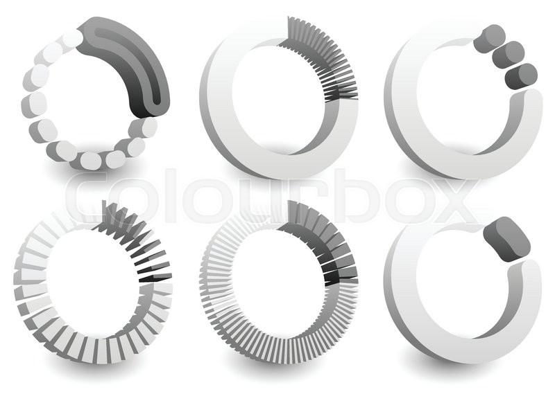 Preloader Or Buffer Shapes Circular Elements Symbols User