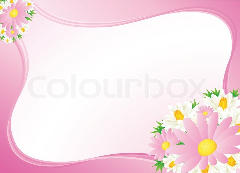 Pinc Floral Abstract Background Stock Vector Colourbox