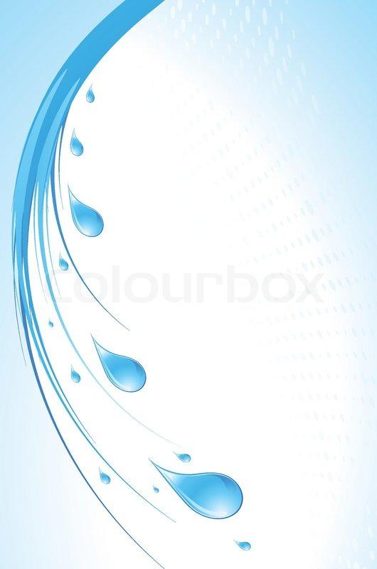 Water Drop Vector Blue Water Drops Vector