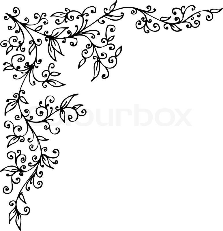 floral vignette 387 eau forte dekorativen hintergrund textur vektor illustration eps 8. Black Bedroom Furniture Sets. Home Design Ideas