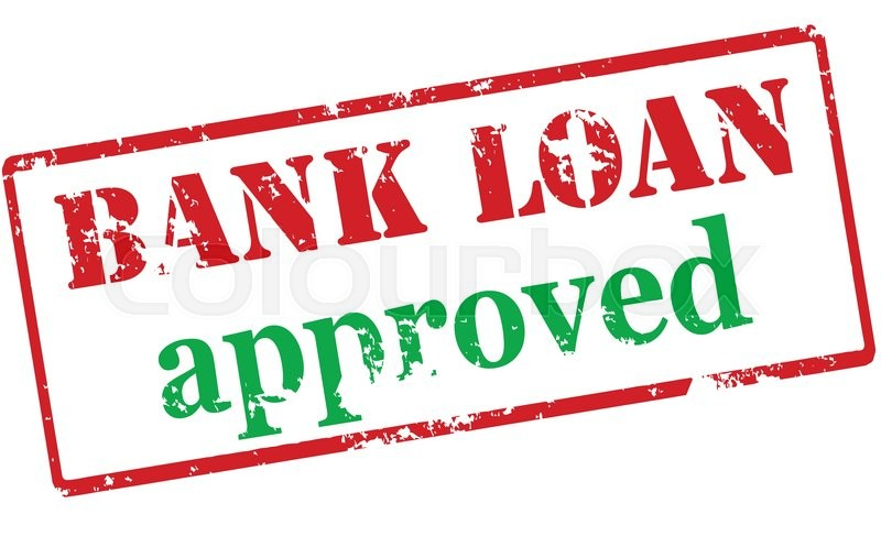 Rubber Stamp With Text Bank Loan Approved Inside Vector