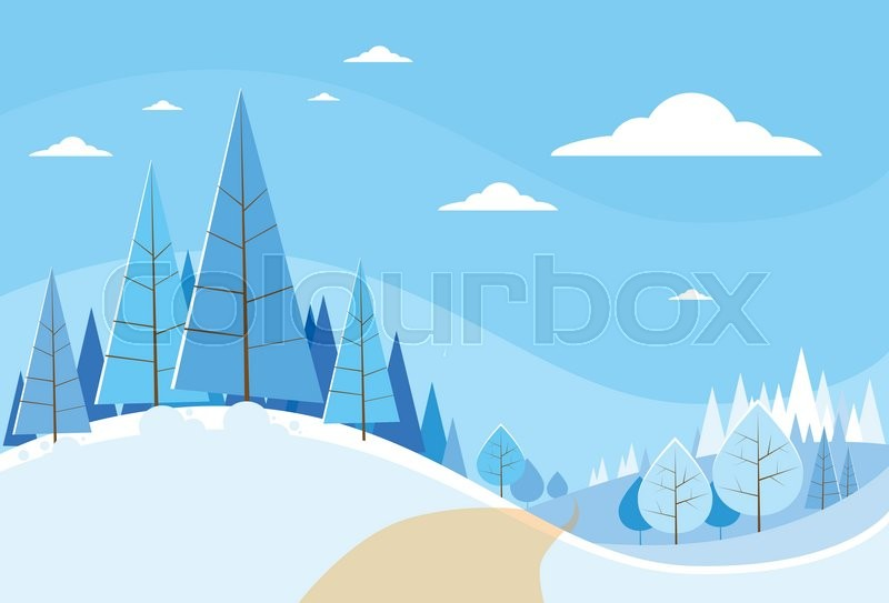 Winter Background Vector Free Vector Download 45 386 Free: Winter Forest Landscape Christmas ...
