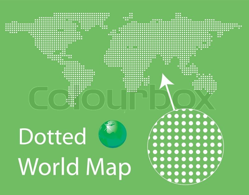 Beautiful dotted world map for you design stock vector colourbox gumiabroncs Image collections
