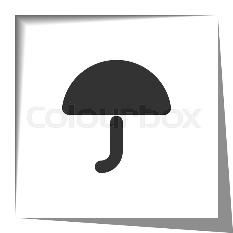 Umbrella Icon With Cut Out Shadow Effect